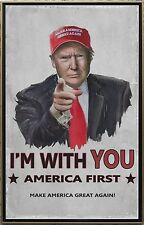 """Donald Trump I'm With You America First 2""""x3"""" Flexible Fridge Magnet"""