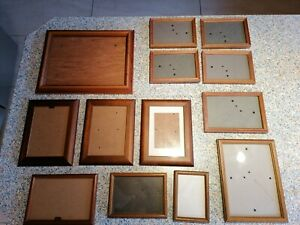 Konvolut 13 Bilderrahmen Holz