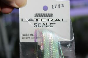 """Fly Tying Micro Pearl Lateral Scale 1733 1/32"""" wide reflective strands"""
