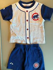 CHICAGO CUBS MAJESTIC TODDLER 2 PIECE SET TOP + SHORTS 18M EUC FREE SHIPPING!!!