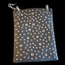 Mini Bag Rhinestone Bling Stud Messenger Bag Purse Handbag Gray Grey