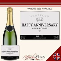 L6S Personalised Occasion Celebration Prosecco Brut Bottle Label - Various Sizes