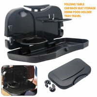 Car Back Seat Folding Table Drink Food Cup Tray Holder Stand Desk Organiser