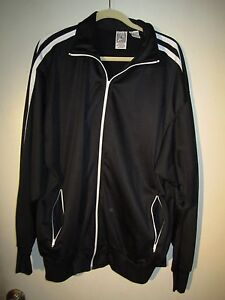 Club Athlete Warm up Jacket Black w/White Details XL Pre-owned Classic
