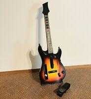 Nintendo Wii Sunburst Red Octane Guitar Hero Wireless Guitar 95455.805 TESTED!