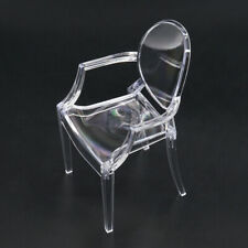 Transparent Clear Arm Chair for 1:6 Barbie Blythe Dollhouse Furniture Miniature