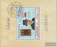 Ajman Block146A (kompl.Ausg.) gestempelt 1969 Goldmedaillengewinner Olympia