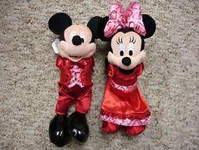 "New listing Disneyland Mickey Minnie Mouse 2007 Valentine's Day 10"" Bean Bag Plush Set (New)"