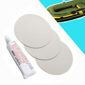 3x PVC Klebstoff Flicken mit Glue Schlauchbootkleber Reparatur gewebeverstärkt