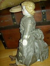 Antique parian doll, A.B.Gotschalck Germany c1870 unglazed bisque shoulderhead