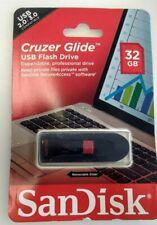 New Sealed Sandisk 32GB Cruzer Glide USB Flash Drive Memory Stick USB 2.0