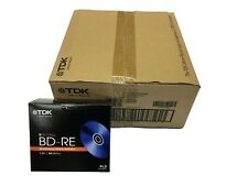TDK BD-RE 1-2X 25GB Blu-ray rewritable blank media 50pc (10x 5pk)