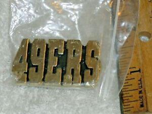 Gold color Lapel Pin for San Francisco 49 ers Football Team