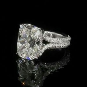 2.90Ct White Cushion Cut Diamond Engagement Ring In Solid 925 Sterling Silver