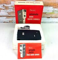 Vintage SEARS Automatic 8mm Movie Camera Model 3-9145 f 1.8 13mm Lens Box Japan