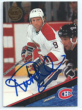 Ron Wilson signed 1993-94 Leaf hockey card Montreal Canadiens autograph #316