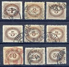 AUSTRIA 1894 Postage due set of 9, used.