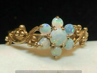Vintage//Estate 14k Yellow Gold Over Fire Opal Women/'s Engagement Ring 2.10Ct
