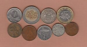 NINE LATVIA & LITHUANIA COINS 1922 TO 2008 IN FINE TO NEAR MINT CONDITION.