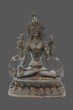 White Tara Buddha Figure Bronze Sculpture from Tibet Budda Statue