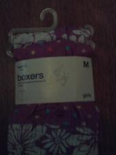 NWT Gap Kids girl 2pk of girls boxers; purple w/stars; purple w/white flowers; L