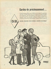Publicité Advertising 1960  RENAULT voitures d'occasions garanties O.R.  ...