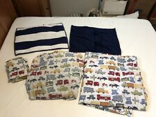 Pottery Barn Kids Cars And Trucks Sheets And Pillowcases, 2 Navy Striped Shams