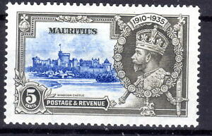 Mauritius Silver Jublee item 1935 MLH  KGV [M310821-1]