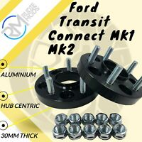 BLACK Ford Transit Connect MK1 MK2 5x108 30mm Hubcentric wheel spacers 1 pair