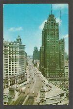Vintage Postcard - Michigan Avenue, Chicago, IL - Photo Card 1957