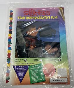 Vintage STIK-EES Sun Shade SHADY SHAPE Code 835 NOS Window Clings Decor Reuse