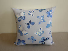 Blue White Gray Butterfly Insect Butterflies Child Cushion Cover 45cm Au made