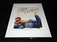 Apple Bottom Jeans 2010 Topless Model Framed 11x14 ORIGINAL Advertisement
