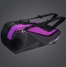 YONEX 6 Tennis/8 Badminton Racket Racquet Bag 8726EX, Black/Purple, 2017 New