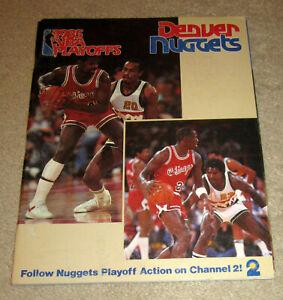Michael Jordan 1985 NBA PLAYOFFS Basketball Magazine Program Chicago Bulls1984MJ