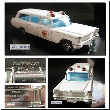 Matchbox Series 54 S & S Cadillac Ambulance MODELL AUTO Krankenwagen 70er LP