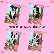 Rosie 25 Cent Kisses Dog Cat House Flag, Pet Photo Lovers Gift Decorative Flag