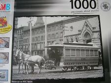 """NEW/SEALED 1000 PIECE JIGSAW PUZZLE. """"HORSE-CAR ON NYC STREET"""" By MB / Hasbro"""