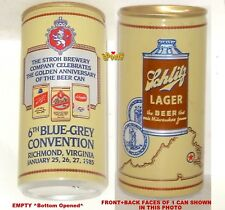 1985 BLUE-GREY RICHMOND,VA.VIRGINIA CONVENTION BEER CAN AMERICA SCHLITZ CONE TOP
