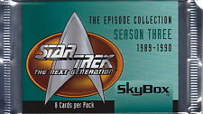 STAR TREK The Next Generation - Episodes Season 3 Trading Card Packs (19) #NEW