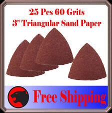 Pack 25 Sandpaper Oscillating Multi Tool Fein 60 Grits Trinangular Sand Paper