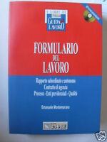 FORMULARIO DEL LAVORO SOLE 24 ORE CON CD 2003