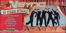 Nsync 2000 No Strings Attached Orignal Promo Banner Style Poster