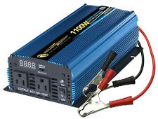 Power Invertor 1100 Watt 12 Volt DC To 110 Volt AC RV Boat Auto Emergency