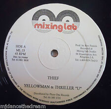 "YELLOWMAN & THRILLER U ~ Thief / Substitute For Your Love ~ 12"" Single"