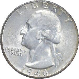 Unc BU MS 1946-S - US Washington 90% Silver Quarter Coin Set Break *510