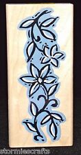 Flower Stamp Craved Pua Border by Aloha Collection Wood Mounted  Size 4 x1-3/4