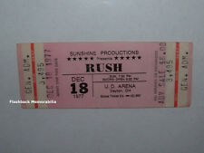 RUSH Unused 1977 Concert Ticket U.D. ARENA DAYTON Geddy Lee GRINDERSWITCH Rare