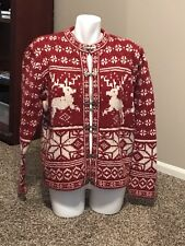 Christmas Sweater Croft And Barrow Arcylic Wool Size Large