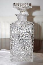 USSR Sovier Rissia Crystal decanter & stopper Excellent Condition See details